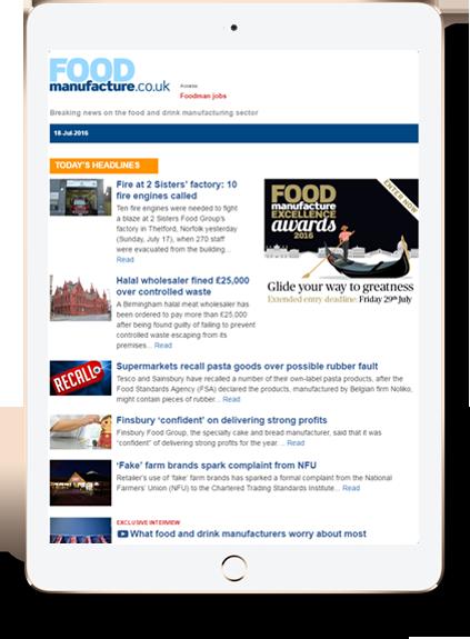 Whitelist FoodManufacture's Newsletters